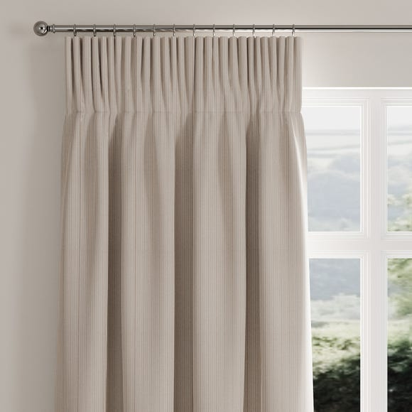 Rope Stripe Natural Pencil Pleat Curtains  undefined