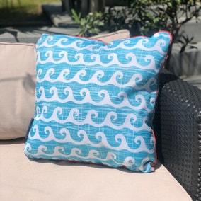 Aruba Blue Water Resistant Outdoor Cushion