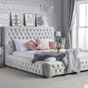 Grande Crushed Velvet Bed