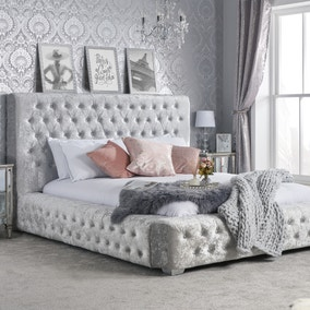 Grande Crushed Velvet Bed