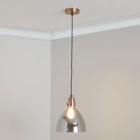 Brogan Black and Copper Ceiling Fitting