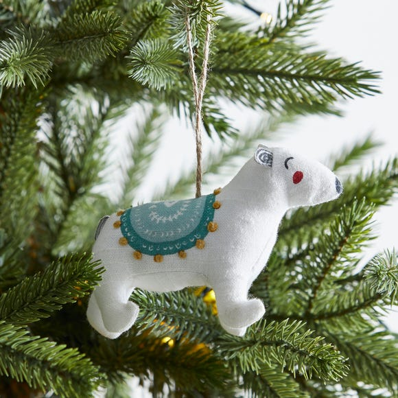 Polar Bear Tree Decoration MultiColoured