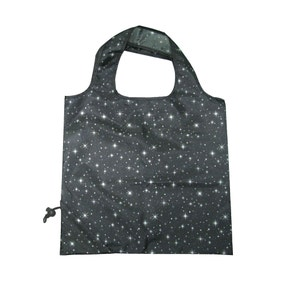 Grey Sparkle and Shine Drawstring Pouch