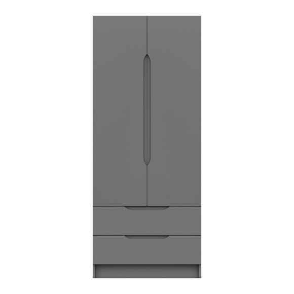 Legato 2 Door Combi Wardrobe Dark Grey
