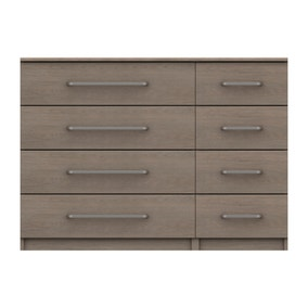 Parker Beige 8 Drawer Wide Chest