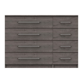 Parker Grey 8 Drawer Wide Chest