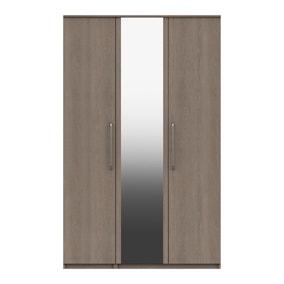 Parker Beige 3 Door Mirrored Wardrobe