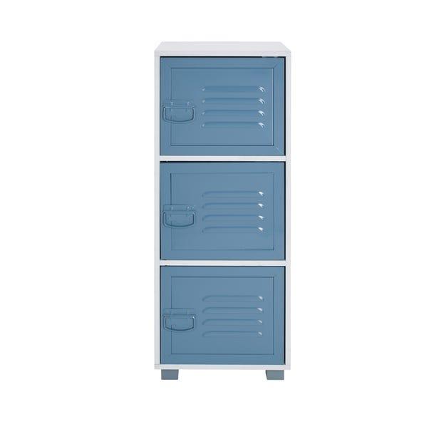Blue Metal Door Cabinet