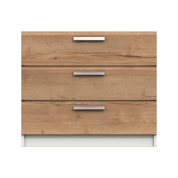 Piper 3 Drawer Chest Mid Oak (Brown)