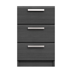Piper 3 Drawer Bedside Table