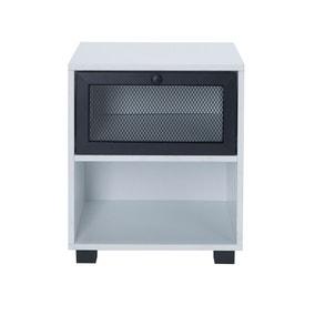 Black Metal Bedside Cabinet