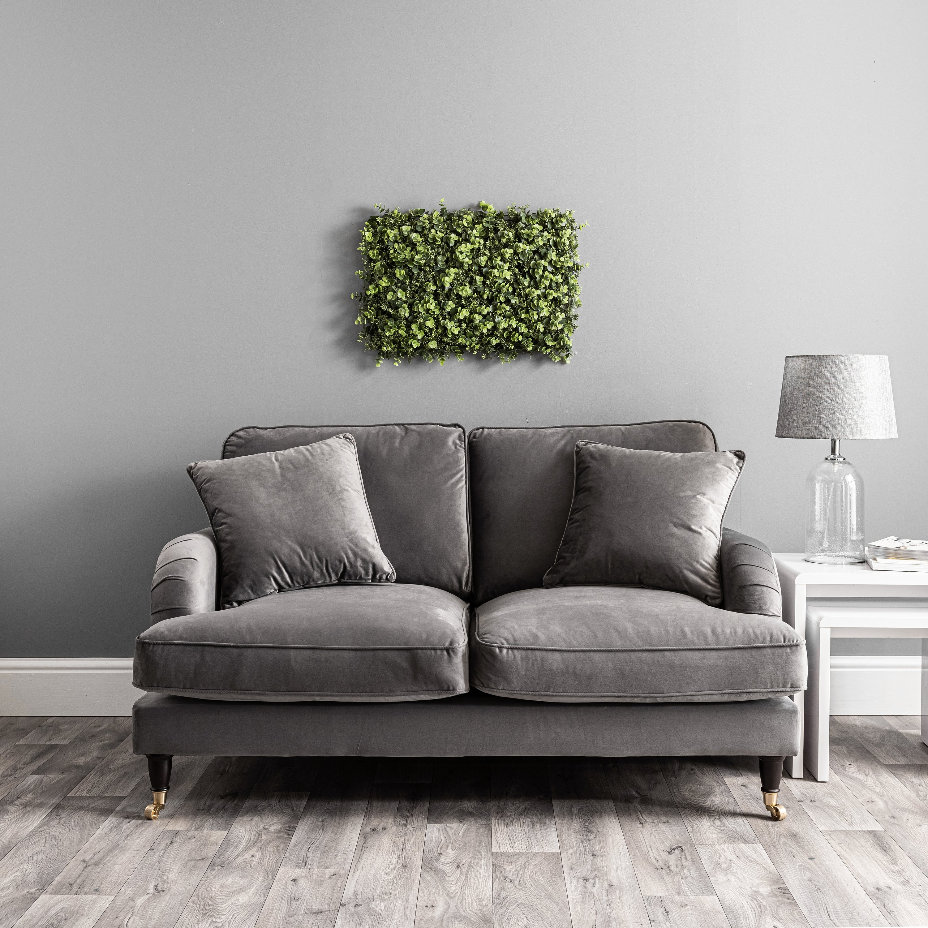 Click to view product details and reviews for Artificial Eucalyptus And Sedum Wall Panel Green.