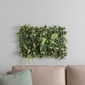 Artificial Lily and Mixed Foliage Wall Panel