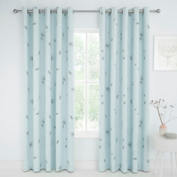 Dragonflies Duck Egg Blackout Eyelet Curtains  undefined