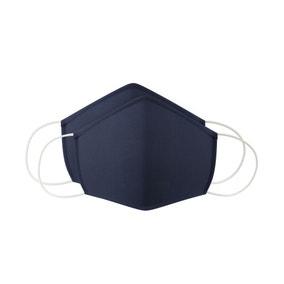 Pack of 2 Plain Navy Face Masks - Adult Large