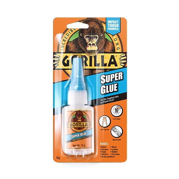 Gorilla Super Glue 15g Clear