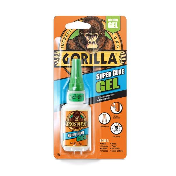 Gorilla 15g Super Glue Gel Clear