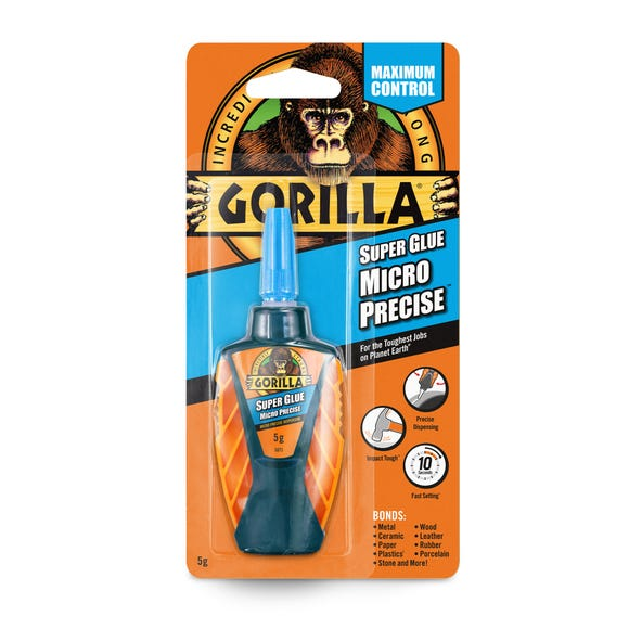 Gorilla Micro Precise Super Glue Clear