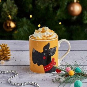 Festive Folk Scotty Mug
