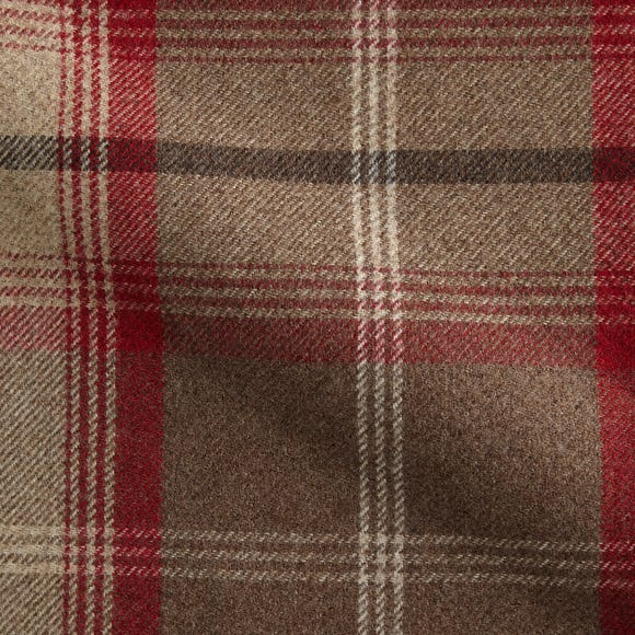 Highland Check Made to Measure Fabric Sample Highland Check Rosso
