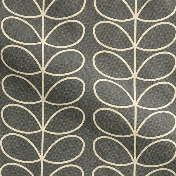Orla Kiely Linear Stem Made to Measure Fabric Sample Orla Kiely Linear Stem Grey