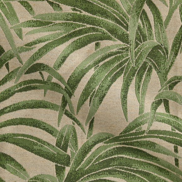 Palm Jacquard Made to Measure Fabric Sample Palm Jacquard Green