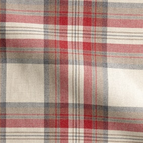 Westport Check Rosso Made to Measure Fabric Sample