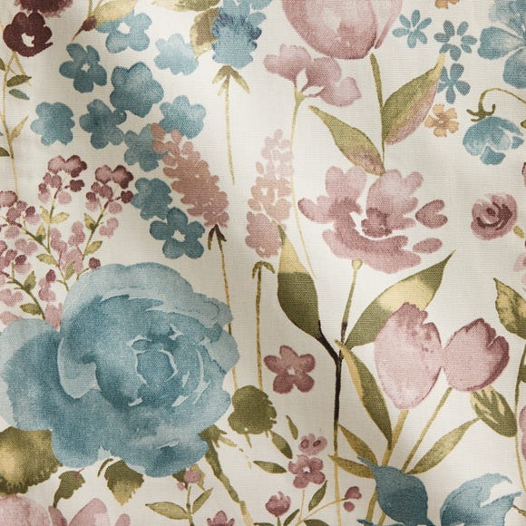 Misty Moors Floral Made to Measure Fabric Sample Misty Moors Teal