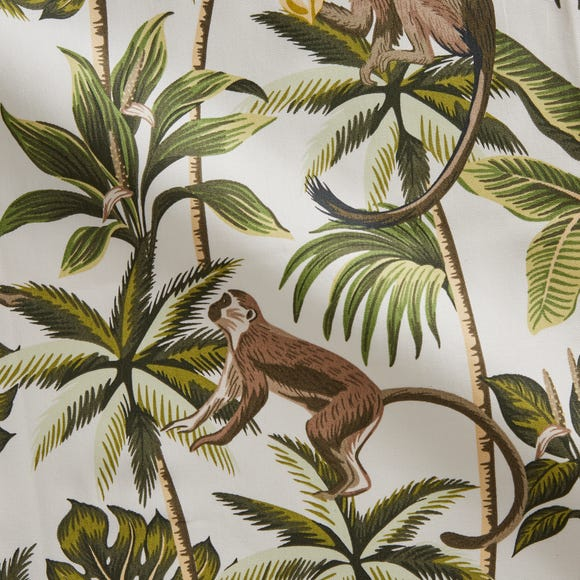 Monkey Made to Measure Fabric Sample Monkey Printed Natural