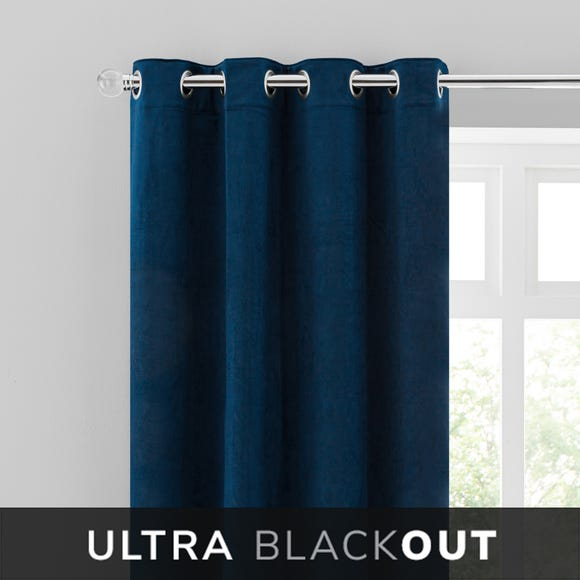 Isla Thermal Blackout Ultra Midnight Blue Eyelet Curtains  undefined