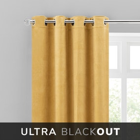 Isla Thermal Blackout Ultra Citrus Eyelet Curtains