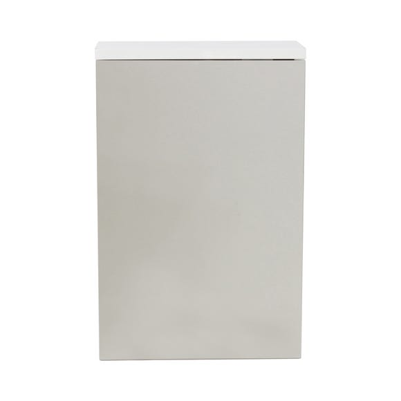 High Gloss Compact Wall Cabinet White