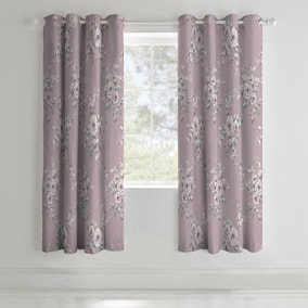 Catherine Lansfield Canterbury Eyelet Curtains