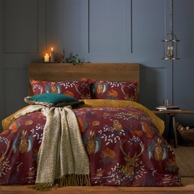 Riva Forest Fauna Rust Duvet Cover and Pillowcase Set