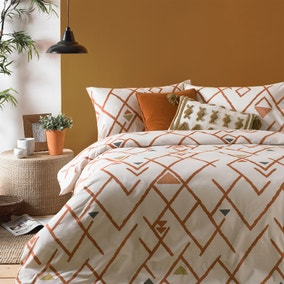 Riva Inka Brick Duvet Cover and Pillowcase Set