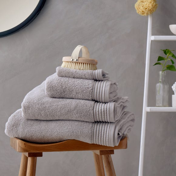 Soft and Fluffy 100% Cotton Silver Towel  undefined