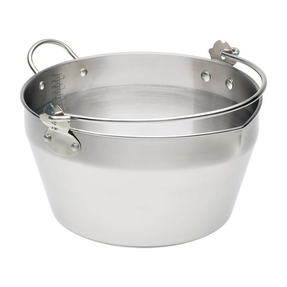 Stainless Steel Masling Pan with Handle Silver