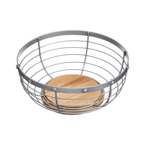 Wire Fruit Basket Grey