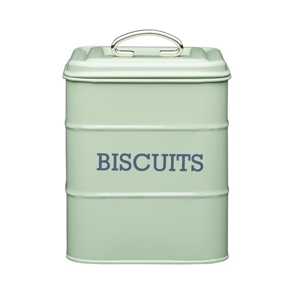 Sage Biscuit Storage Tin Green