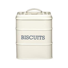 Cream Biscuit Storage Tin