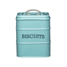 Blue Biscuit Storage Tin