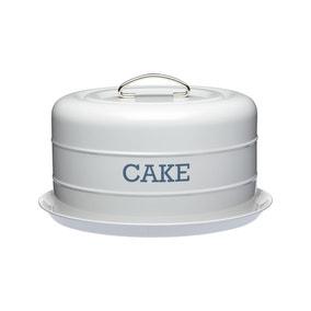 Grey Cake Storage Tin