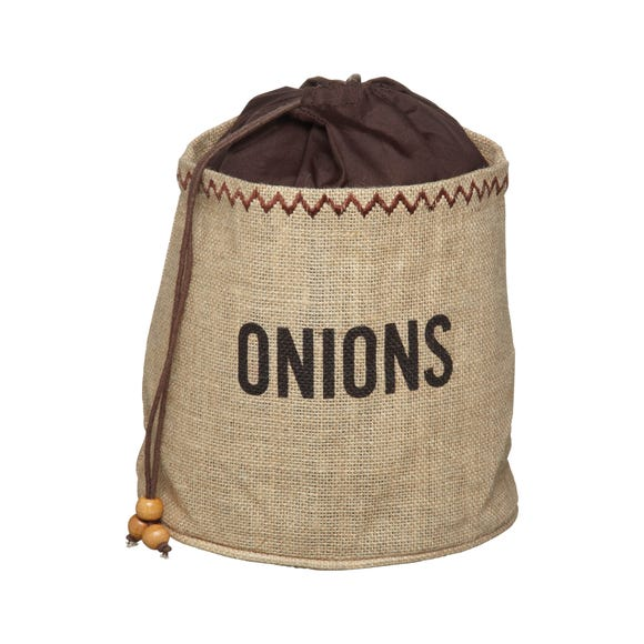 KitchenCraft Hessian Onion Preserving Bag Brown