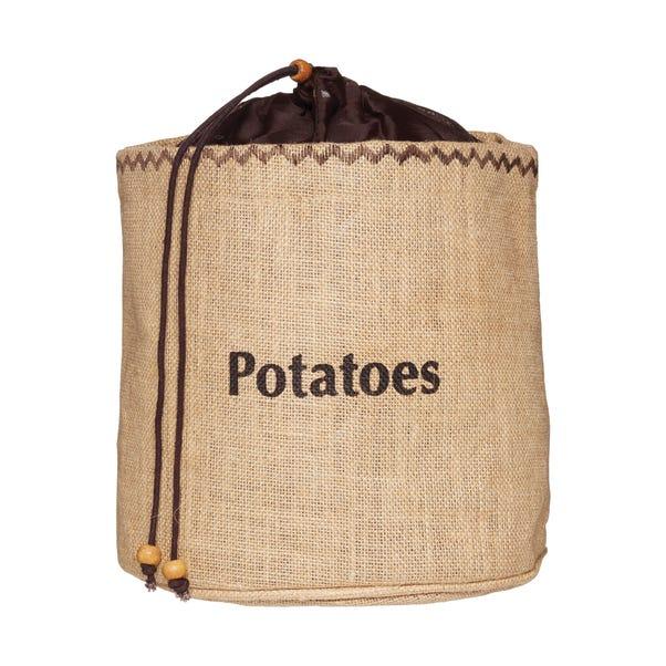 KitchenCraft Hessian Potato Preserving Bag Brown