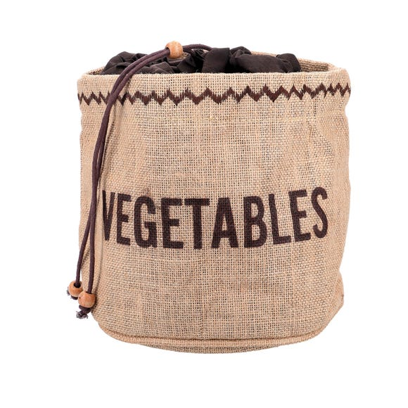 KitchenCraft Hessian Vegetable Preserving Bag Brown