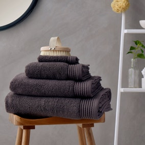 Soft and Fluffy 100% Cotton Charcoal Towel