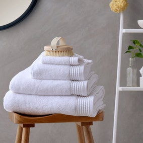 Soft and Fluffy 100% Cotton White Towel