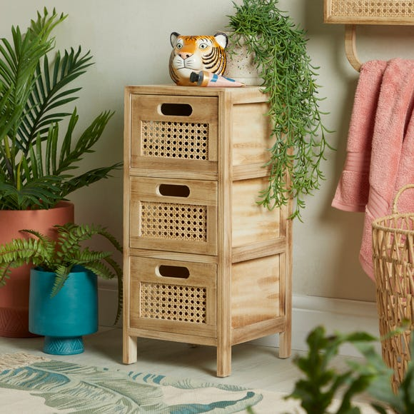 French Cane Natural Drawers Natural (Brown)