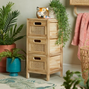 French Cane Natural Drawers