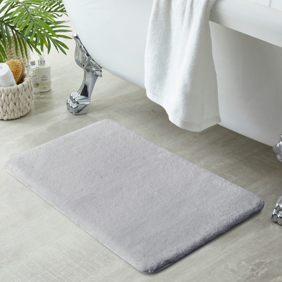 Anti-Bacterial Memory Foam Silver Bath Mat